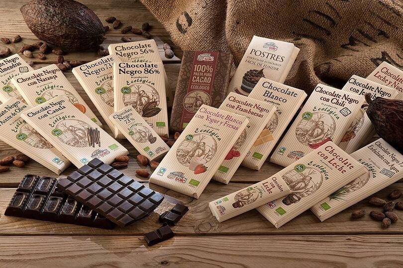 Turrón y chocolate ecológico en El viejo hortelano