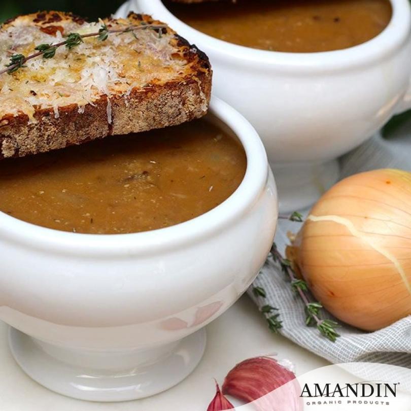 Sopa de cebolla Amandín en El viejo hortelano