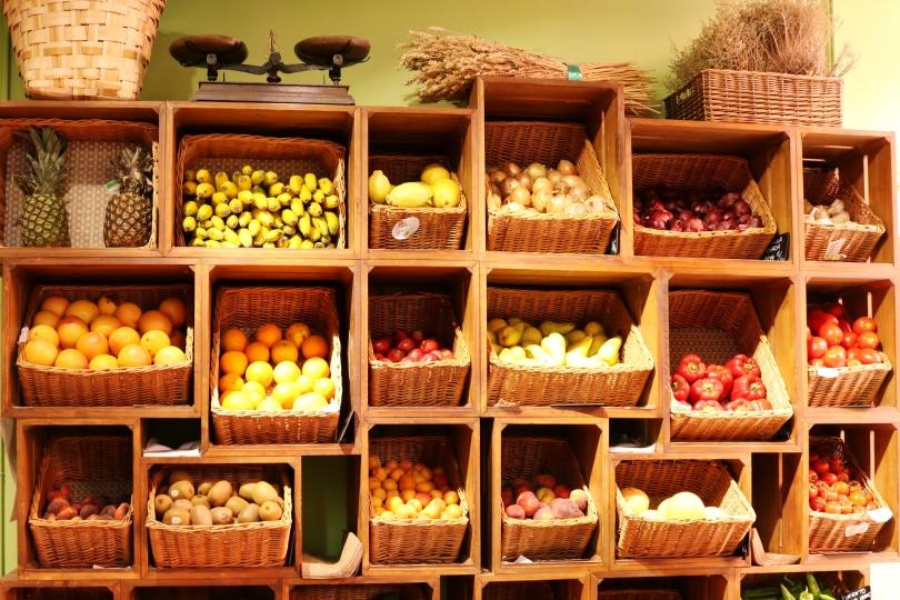 Frutas y verduras a granel